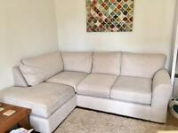 Next Michigan corner sofa and armchair