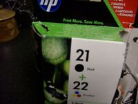HP printer ink 21&22
