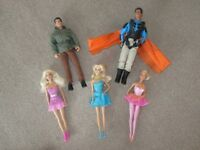 Barbie and Action Men Dolls