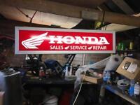 Honda light up sign