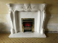 Georgion Fire Place with Electric Fire and Hearth