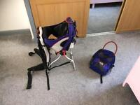Kelly Kids back carrier and chair