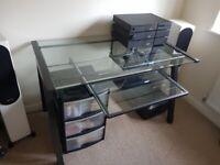 Metal Framed Glass Desk