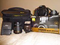 Nikon D5200 DSLR Camera 18-55mm VR II Lens