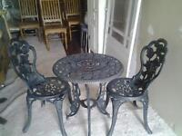 castiron table and chair set