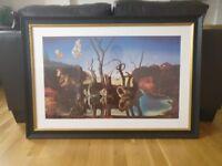 Large canvas Dali Swans Reflecting Elephants