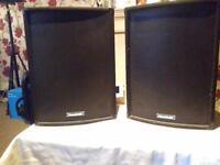 SOUND LAB 200 Watt PA Speakers