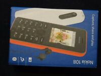 Brand new Nokia 108 Mobile Phone with Vodafone Pay as you go.