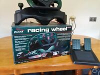 Jaguar driving wheel and pedals
