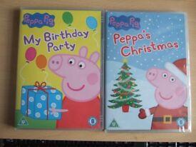 TWO CHILDREN'S DVDs – PEPPA PIG – see description