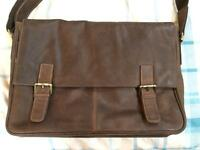 """Leather 16.4"""" laptop bag. New. £50 ONO"""