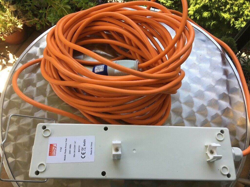 Crusader V762 Mains Supply Unit with 3 Sockets 15m Cable