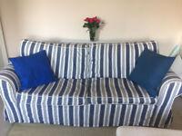 Ikea Sofa bed striped, 1.5 years