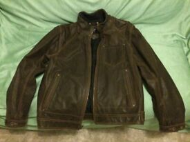 1f1f03de044522 GAP Men s Chocolate Brown 100% Leather Jacket (M) JUST REDUCED