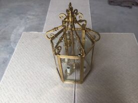 Magnificent Brass Lantern (Ceiling hung, heavy Chain, more suited to celinings over 10Ft