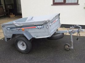 ERDE 142 road trailer with cover, spare wheel and jockey wheel all in good condition.