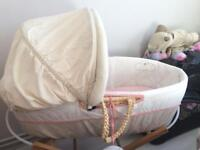 Mothercare Winnie the Pooh Moses Basket for Sale