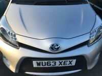 FINANCE £164 PR MONTH 2013 TOYOTA YARIS T4 1.5 HYBRID AUTOMATIC 26850 MILES £0 ROAD TAX 2 KEYS