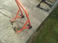 3x Motorcycle Paddock Stands