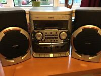 Phillips Triple cd stereo with radio and twin tape deck
