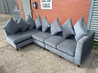 Absolutely Gorgeous grey dfs corner sofa delivery 🚚 sofa suite couch furniture