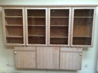 Kitchen - lounge display cabinets, Poggenpohl solid wood doors, very good condition,