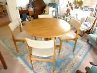 Matching Dining Table and Four Chairs.