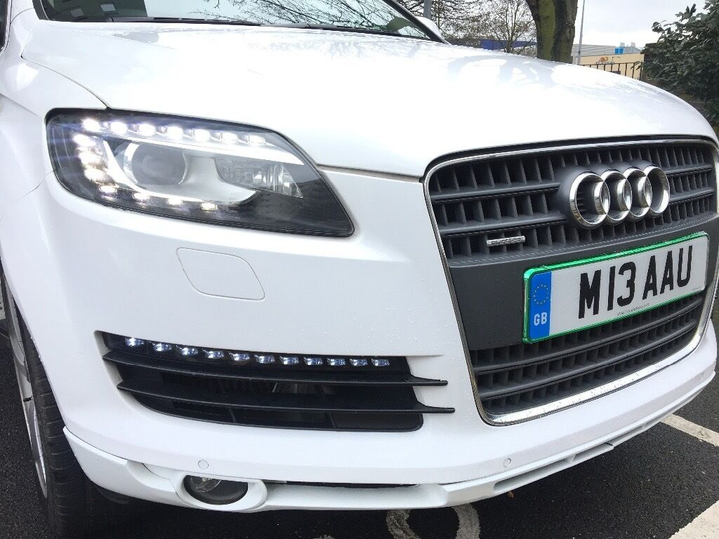 Car colour number plate - Audi Q7 S Line 2006 But Updated To 2013 With New Headlight Daylights Colour