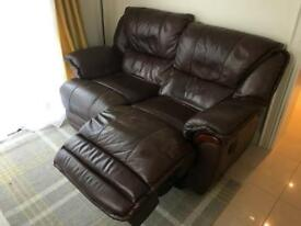 Leather sofa electric recliner 3 seater and 2 seater