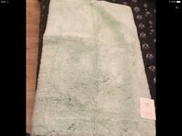 Bath mat Egyptian cotton brand new is £19.50 from marks and Spencer's 50-80cm light green