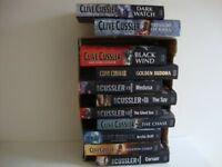 11 CLIVE CUSSLER HARD BACK BOOKS - FICTION