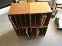 Record Storage Boxes (4)- each holds up to 80 albums- custom made