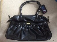 Ted Baker black leather bag, New. Leather look