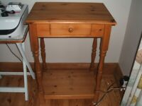 Old Pine Console Table/Hall Table