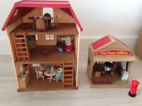 Sylvanian families house and Post Office