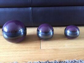 Purple Ceramic Decorative Balls