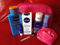 Brand new Nivea pink bag and all new Nivea products
