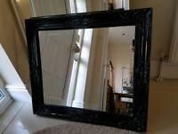 Mirror black 64x75cm