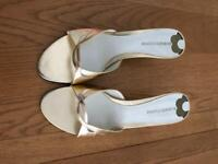 Gold mules US size 10W