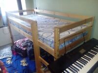 Childrens wooden midi bed with mattress
