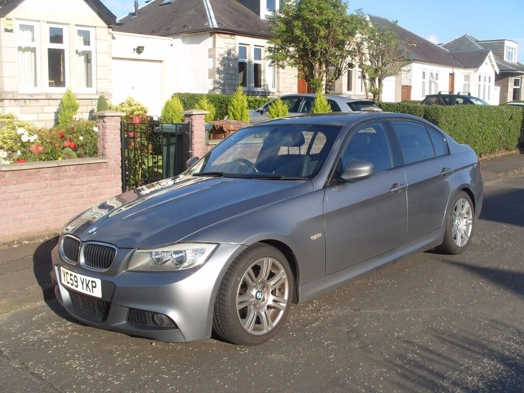 bmw 3 series 2009 59 e90 saloon 318d m sport diesel black leather interior space grey 64000. Black Bedroom Furniture Sets. Home Design Ideas