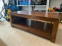 Solid mango wood coffee table/tv stand