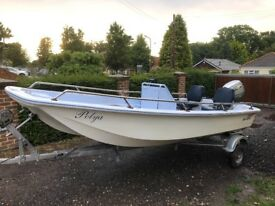 Dell Quay Dory 13ft with 2015 BF20 Honda outboard
