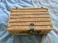 Like new wicker picnic hamper and accessories