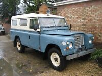 Land Rover 109 barn find project. 1972 so tax exempt .