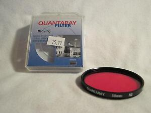 ***Quantaray Red R2 58 mm Filter For SLR Photo or Video!