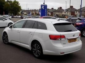 TOYOTA AVENSIS 2.0 D-4D ICON 5dr *Sat Nav + Reverse Cam + Cruise * (white) 2013