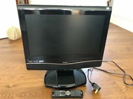 "BUSH 18.5"" HD Digitial LCD TV with built-in DVD player and docking station"