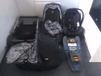 Joie complete baby travel system - car seat with ISO fix, buggy and carry cot