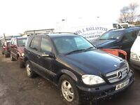 Mercedes ml 2005 year spare parts radiator gearbox alternator turbo injectors fuel pump available